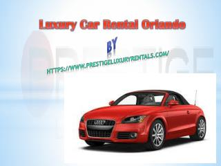Exotic Car Rental Orlando