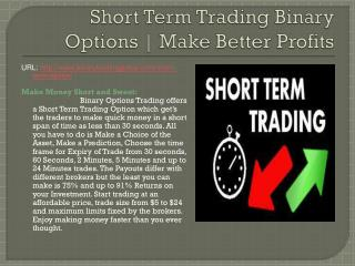 Short Term Trading Binary Options