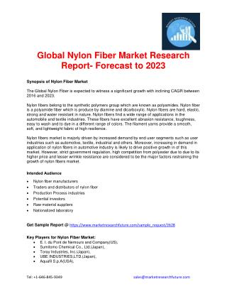 Global Nylon Fiber Market Research Report- Forecast to 2023