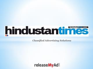 Hindustan Times Classified Ad Booking.