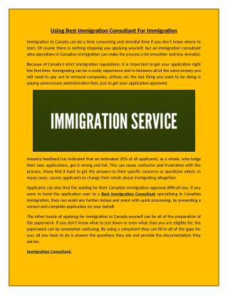 Best Immigration Consultant Services at an Affordable Price