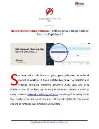 Network Marketing Software | CMS Drag and Drop Builder Feature Explained!