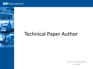 Technical Paper Author