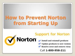 How to Prevent Norton from Starting Up