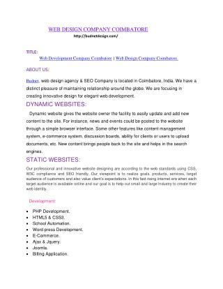web design company coimbatore, web development company coimbatore