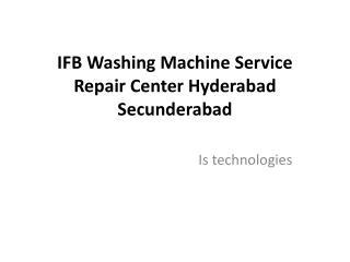 IFB Washing Machine Service Repair Center Hyderabad Secunderabad