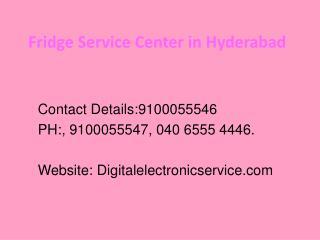Fridge Service Center in Hyderabad