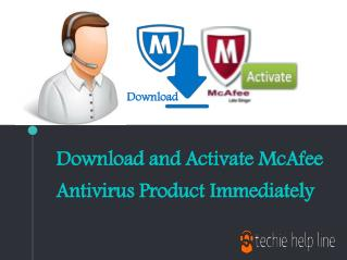 Download and Activate McAfee Antivirus Product Immediately