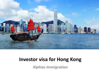 investor visa for hong kong