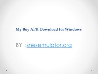 My Boy APK Download and install
