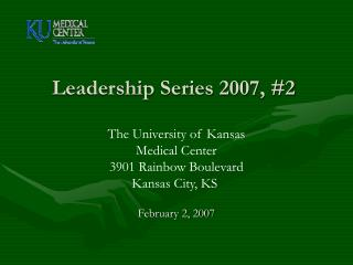 Leadership Series 2007, #2