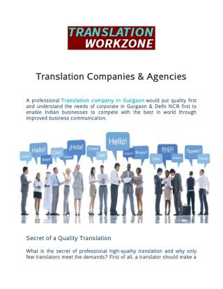 Translation Companies & Agencies in Gurgaon