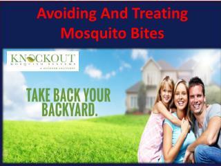 Avoiding And Treating Mosquito Bites