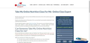 Take My Online Nutrition Class For Me