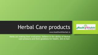 Herbal Care products in India at healthwithherbal