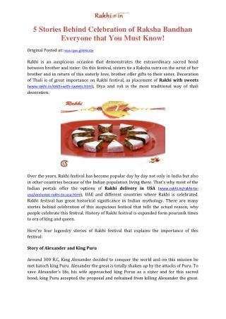5 Stories Behind Celebration of Raksha Bandhan Everyone that You Must Know!
