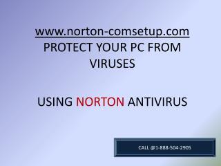 How to install best antivirus with Norton.com/setup call@1-888-504-2905