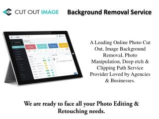 Cut Out Image - Background Removal Service