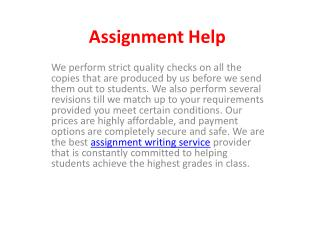 Hire Best Assignment Help Writing Service at Cheap Price
