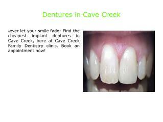 Dentures in Cave Creek