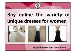 Get latest collection of dresses from Darius Cordell