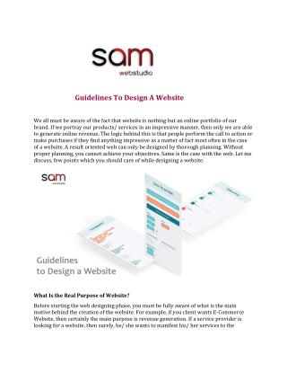 Guidelines To Design A Website