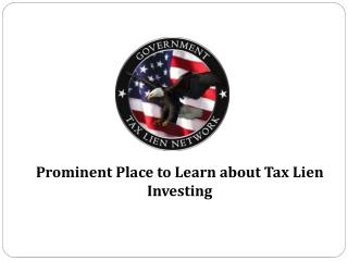 Prominent Place to Learn about Tax Lien Investing