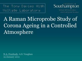 A Raman Microprobe Study of Corona Ageing in a Controlled Atmosphere