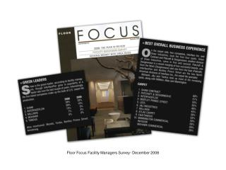 Floor Focus Facility Managers Survey- December 2008