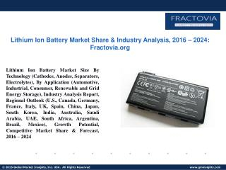 PPT for Lithium Ion Battery Market Analysis, 2017 - 2024