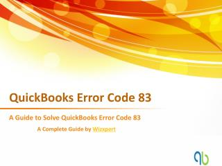 QuickBooks Error Code 83