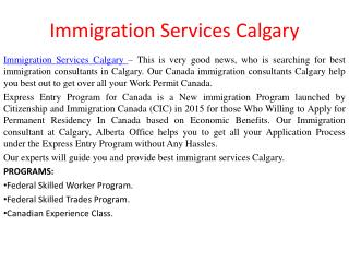 Immigration Services Calgary