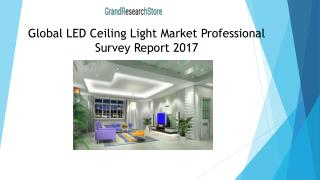 Global LED Ceiling Light Market Professional Survey Report 2017