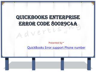 QuickBooks Enterprise Error Code 80029C4A