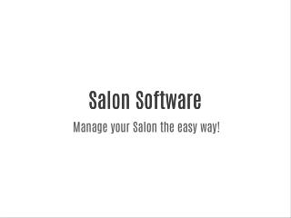 Salon Software Booking & Appointment Management Software