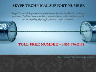 Skype Support Number 1-855-676-2448
