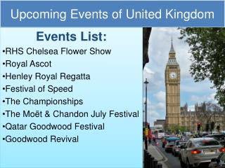 Upcoming events in united kingdom 2017