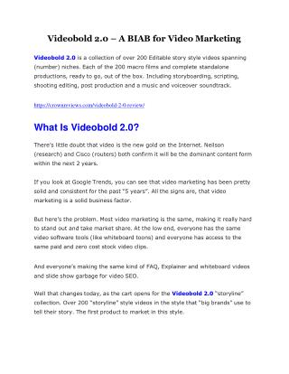 VideoBold 2.0 Review and Premium $14,700 Bonus