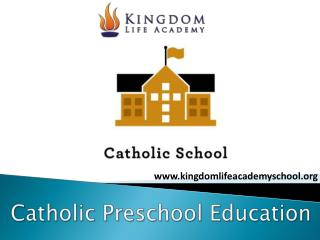 Catholic preschool education in Rancho Santa Margarita CA
