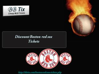 Discount Boston red sox Tickets