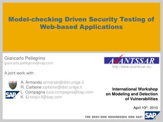 Model-checking Driven Security Testing of Web-based Applications