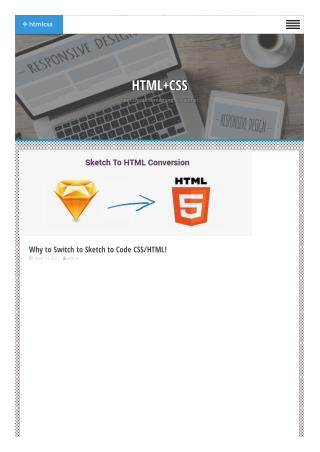 Why to Switch to Sketch to Code CSS/HTML - HTML CSS