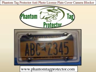 Phantom Tag Protector Anti Photo License Plate Cover Camera Blocker