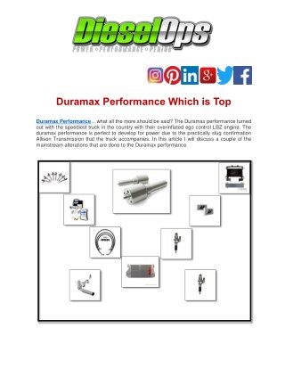 Duramax Performance Which is Top