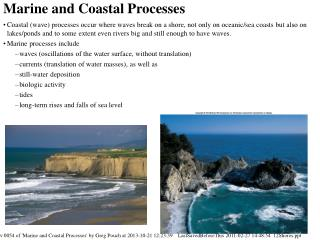 Marine and Coastal Processes