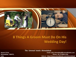 8 Things A Groom Must Do On His Wedding Day!