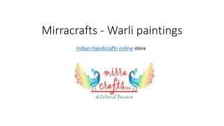 Buy Warli Paintings at online store for Indian Handicrafts Mirracrafts