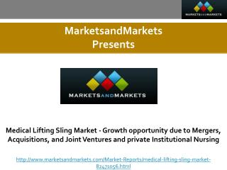 Medical Lifting Sling Market - Growth opportunity due to Mergers, Acquisitions, and Joint Ventures and private Instituti