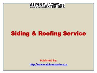 Siding & Roofing Service