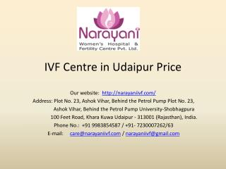 IVF Centre in Udaipur Price